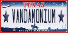 vanda-license-plate